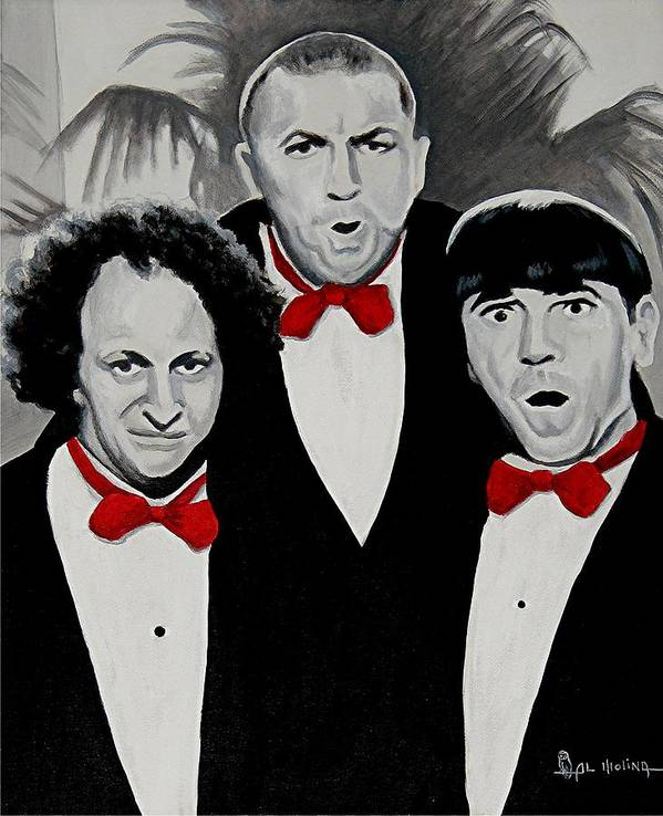 Actor Poster featuring the painting Oh Wise Guys Aye by Al Molina