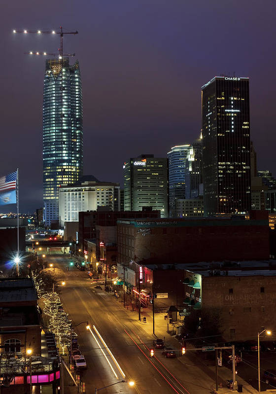 Oklahoma Poster featuring the photograph Okc Evening by Ricky Barnard