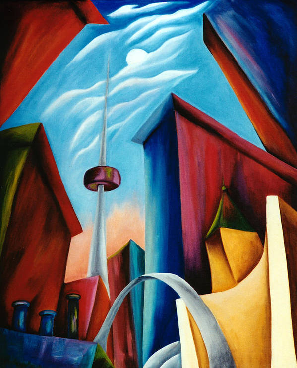 Toronto Landscape Poster featuring the painting O'keeffe's Toronto by Lynn Soehner