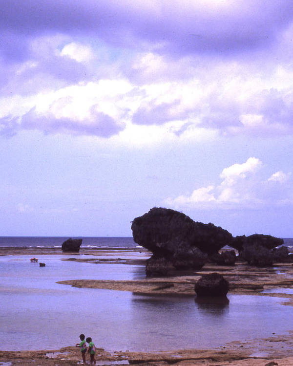 Okinawa Poster featuring the photograph Okinawa Beach 20 by Curtis J Neeley Jr