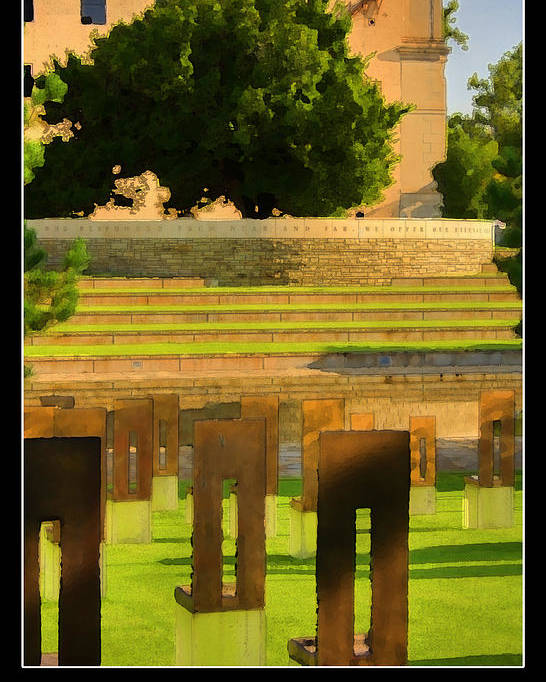 Oklahoma Poster featuring the photograph Oklahoma City National Memorial by Ricky Barnard