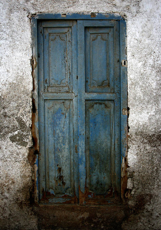 Old Doors Poster featuring the photograph Old Blue Door by Shane Rees