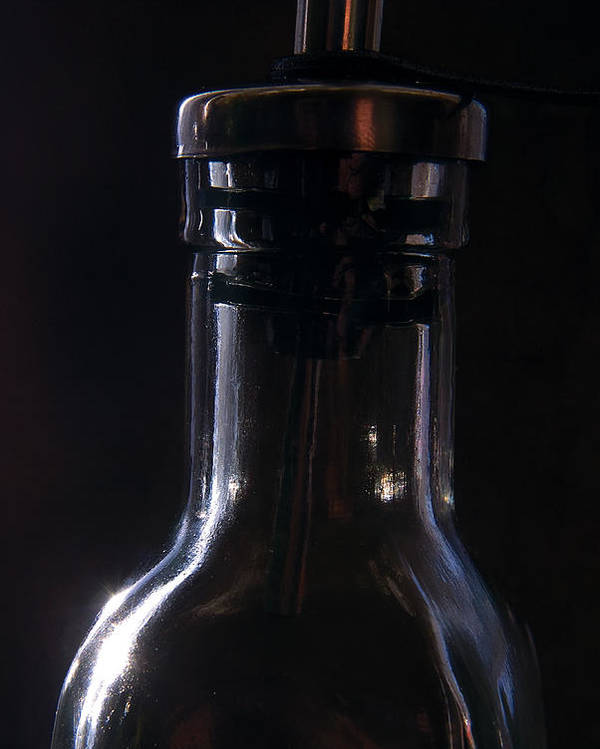 Bottle Poster featuring the photograph Old Bottle by Steve Somerville