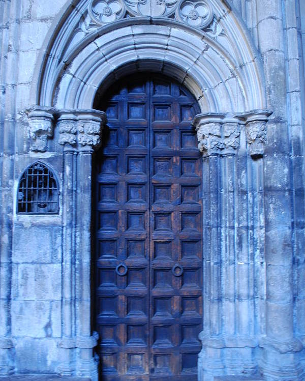 Cathedral Door Poster featuring the photograph Old Cathedral Door In Barcelona by Dorota Nowak