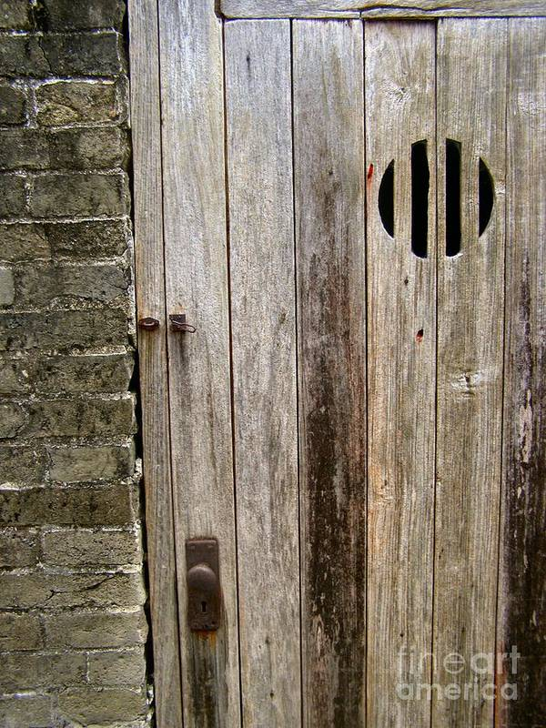 Door Poster featuring the photograph Old Chinese Village Door Series Fifteen by Kathy Daxon