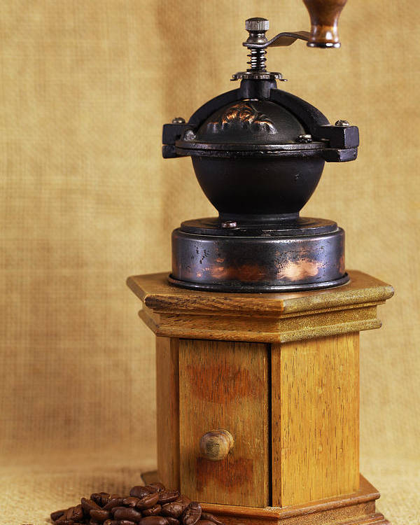 Kaffeem�hle Poster featuring the photograph Old Coffee Grinder by Falko Follert