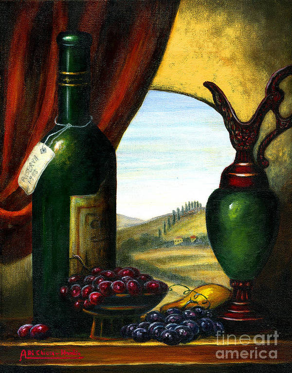 Angelica Dichiara Poster featuring the painting Old Country Feeling II by Italian Art