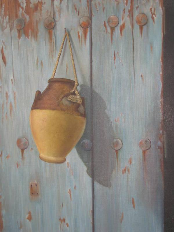 Door Poster featuring the painting 'old Door' by Marina Harris