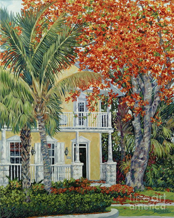 Tamarind Tree Poster featuring the painting Old Flame by Danielle Perry