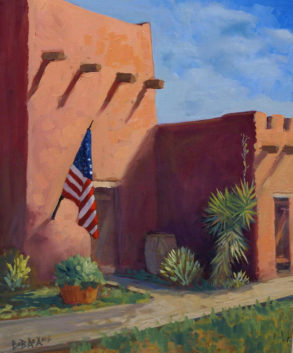 Building Poster featuring the painting Old Ft.bliss by Bob Adams