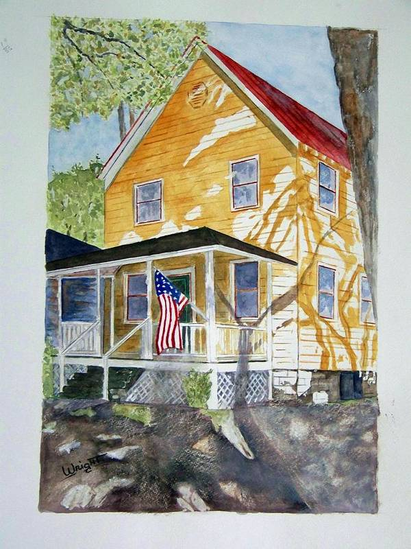 Architecture Poster featuring the painting Old Glory by Larry Wright