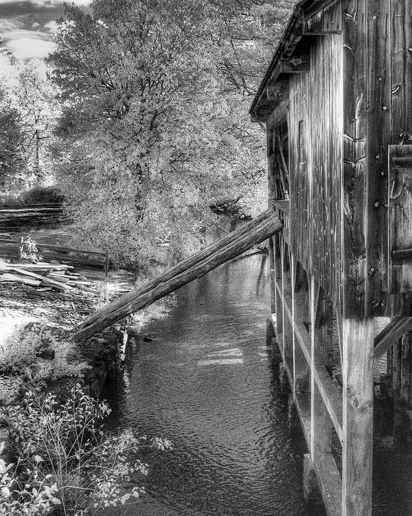 Old Mill Poster featuring the photograph Old Grist Mill by Joann Vitali