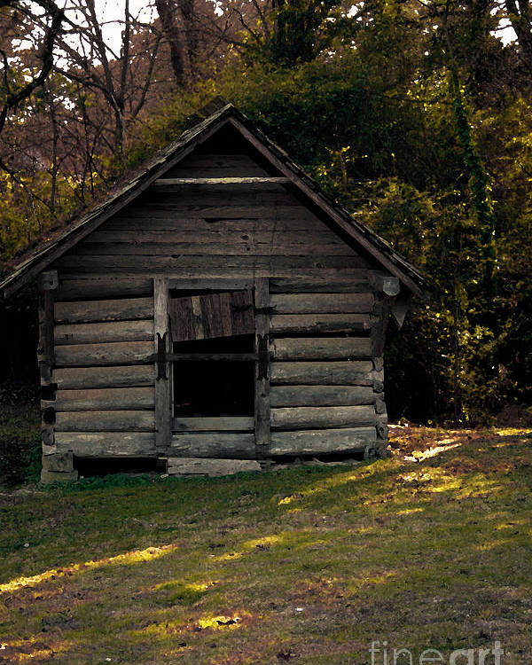 Log Cabin Poster featuring the photograph Old Log Cabin by Kim Henderson