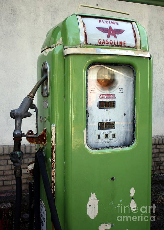 Gasoline Poster featuring the photograph Old National Gas Pump by DazzleMePhotography