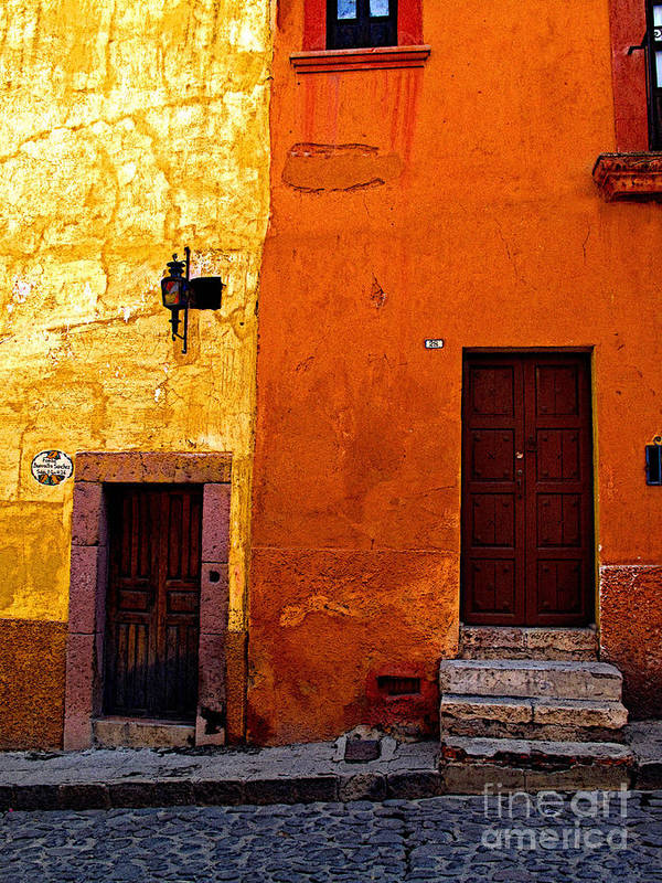 San Miguel De Allende Poster featuring the photograph Old Neighbors by Mexicolors Art Photography