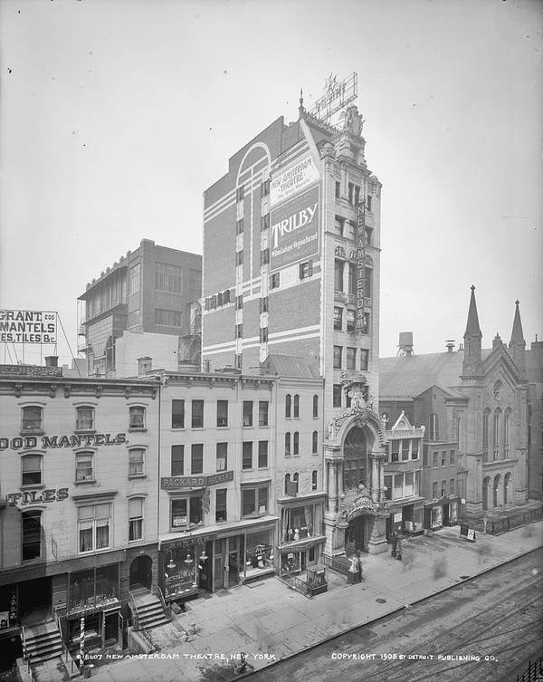 New Amsterdam Theater Poster featuring the photograph Old Nyc New Amsterdam Theater Photograph - 1905 by PhotographyAssociates