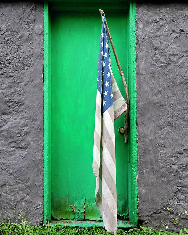 Flag Poster featuring the photograph Old Old Glory by Murray Bloom