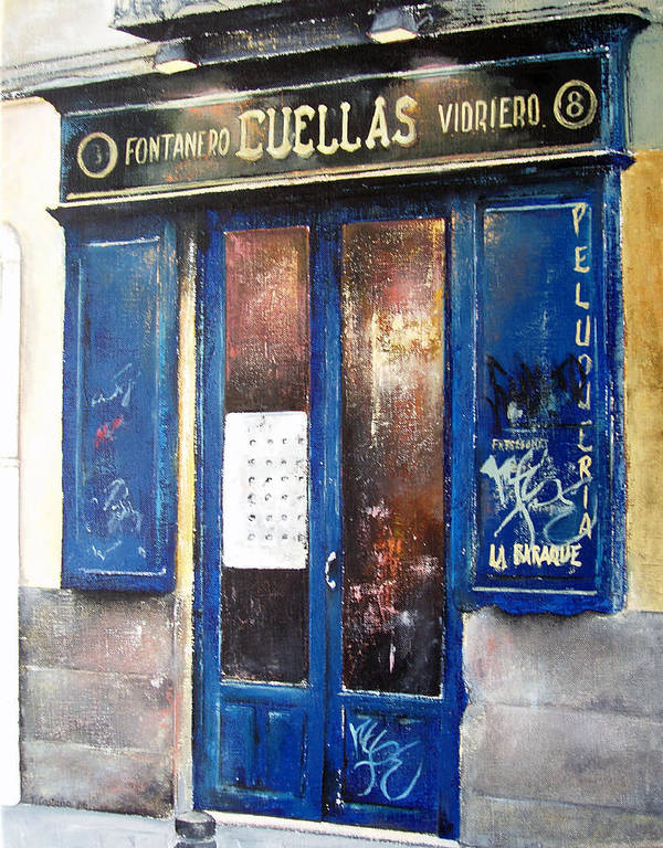 Old Poster featuring the painting Old Plumbing-madrid by Tomas Castano