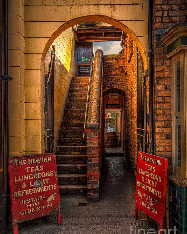 Architecture Poster featuring the photograph Old Signs by Adrian Evans