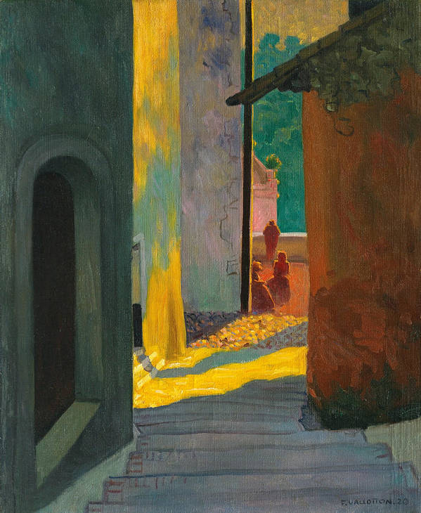 Old Street In Cagnes. Sunset Poster by Felix Vallotton