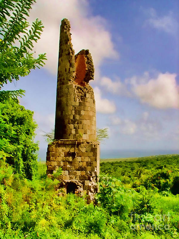 Nevis Poster featuring the photograph Old Sugar Mill by Louise Fahy