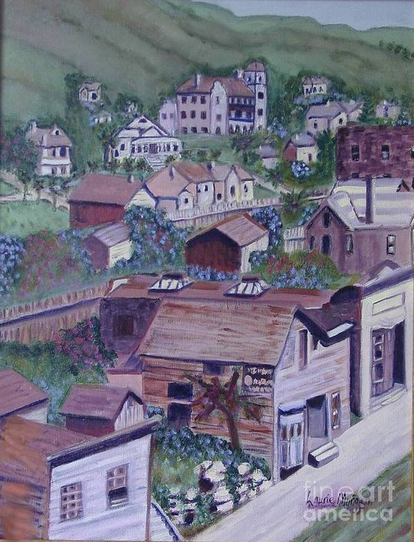 Ventura Poster featuring the painting Old Ventura by Laurie Morgan