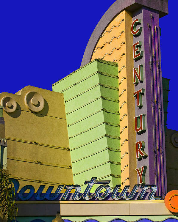 Therater Poster featuring the photograph Old Ventura Theater by Lynn Andrews
