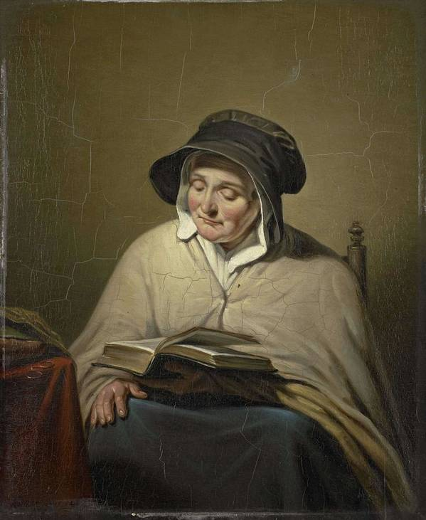 Beautiful Poster featuring the painting Old Woman Reading, Cornelis Kruseman, 1820 - 1833 by Cornelis Kruseman