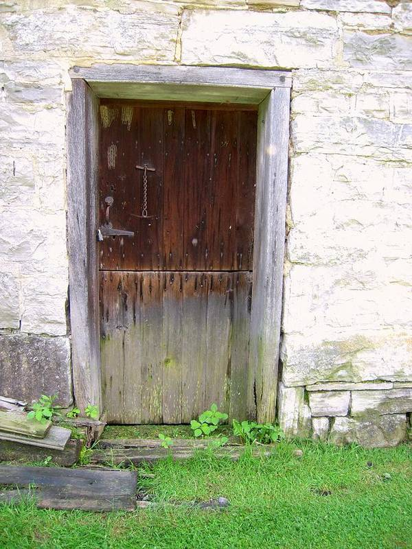 Mills Poster featuring the photograph Old Yingling Flour Mill Door by Don Struke