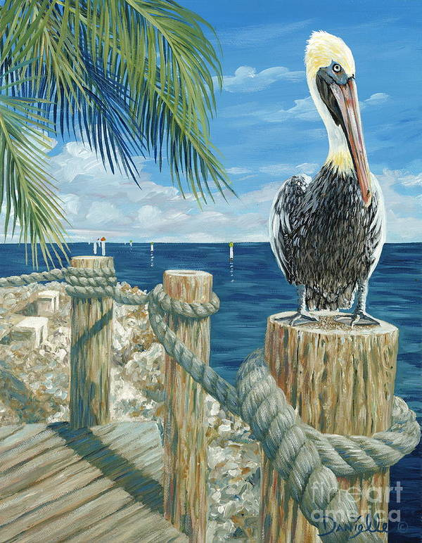 Key Largo Poster featuring the painting On The Lookout by Danielle Perry