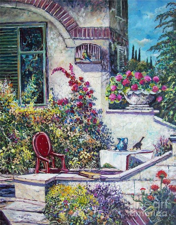 Original Painting Poster featuring the painting On The Porch by Sinisa Saratlic