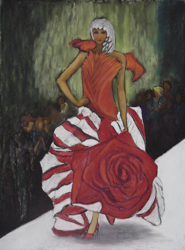 Fashion Show Poster featuring the painting On The Runway by Annette Kagy