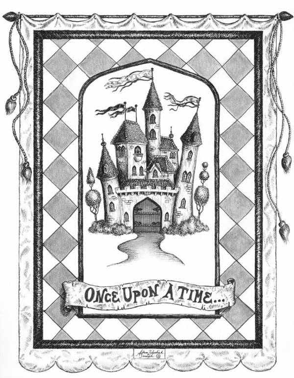 Art Poster featuring the drawing Once Upon A Time by Adam Zebediah Joseph