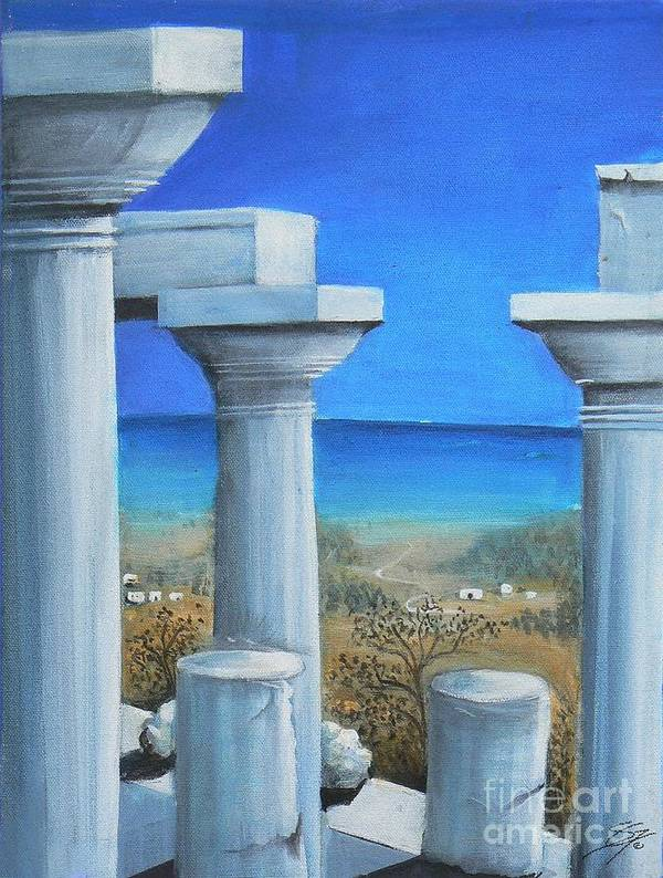 Ancient Poster featuring the painting Once Upon A Time In Greece by Artist ForYou