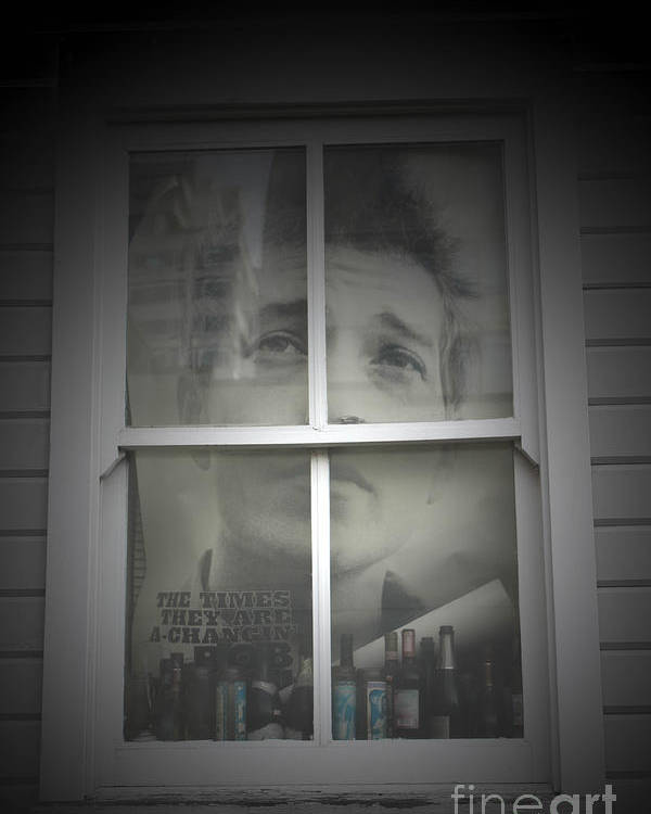 Bob Dylan Poster featuring the photograph One Too Many Mornings by C E Dyer