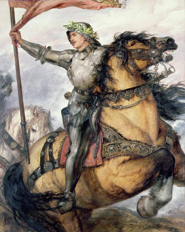 Onward Poster featuring the painting Onward by Sir John Gilbert