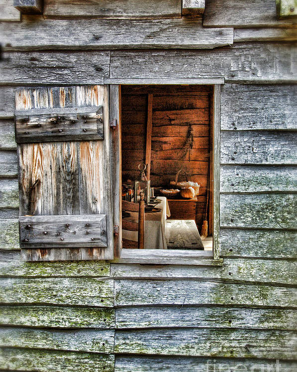 Window Poster featuring the photograph Open Window In Pioneer Home by Jill Battaglia
