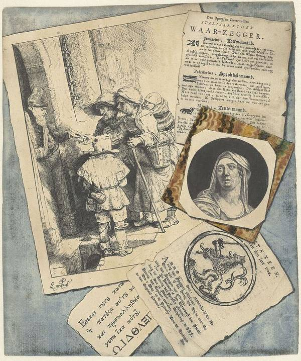 Nature Poster featuring the painting Optical Illusion With Prints And Pamphlets, L. Groskopf, C. 1746 by L Groskopf