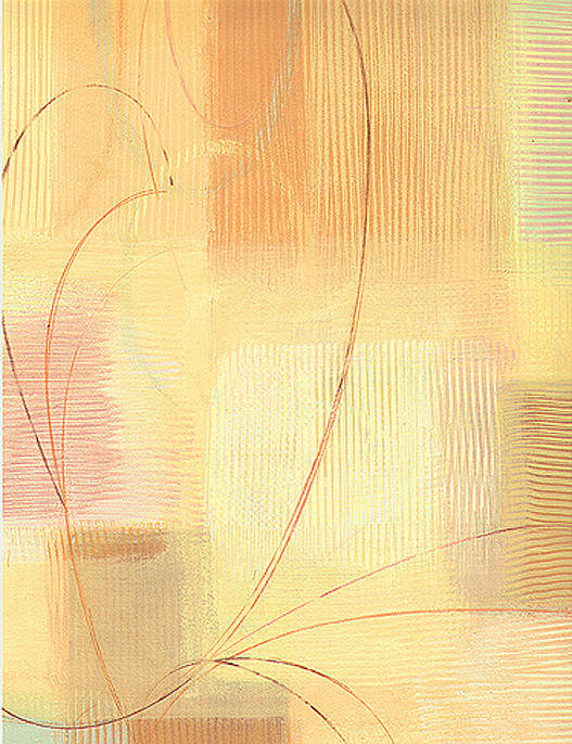 Abstract Poster featuring the painting Orange Textures by Marja Koskinen-Talavera