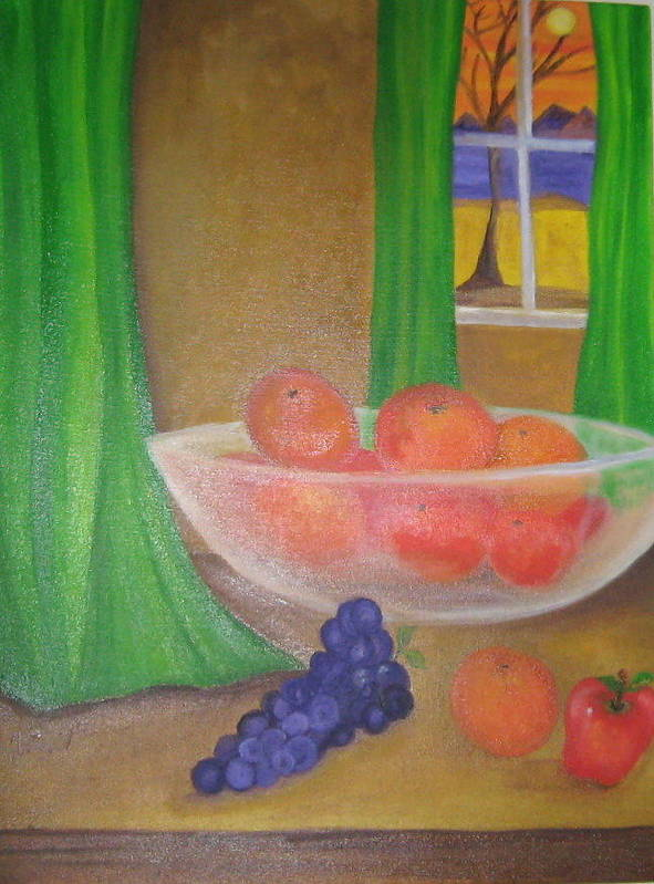 Still Life Poster featuring the painting Orange by Virgil Dublin