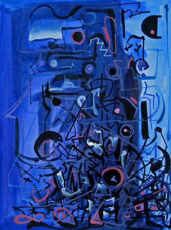 Abstract Poster featuring the painting Orchestra Section by David McKee