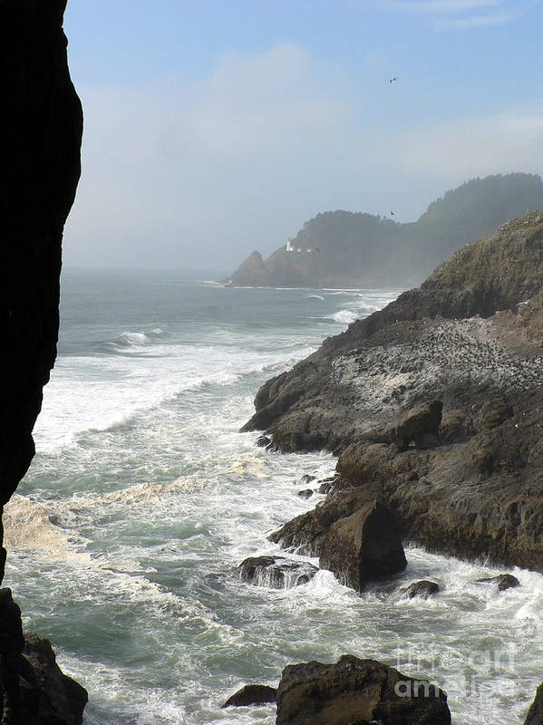 Pacific Poster featuring the photograph Oregon Coast by Larry Keahey