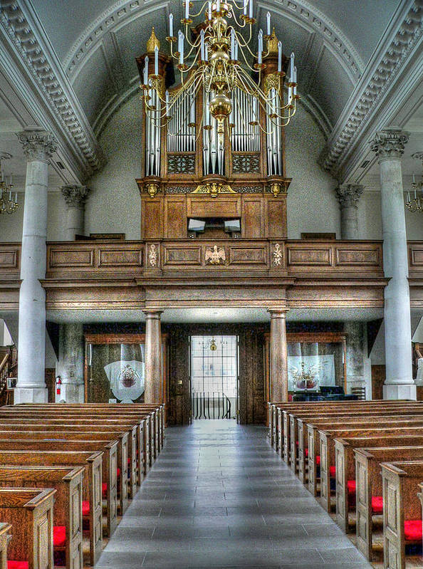 Westminster College Poster featuring the photograph Organ At St Mary Of Aldermanbury by David Bearden
