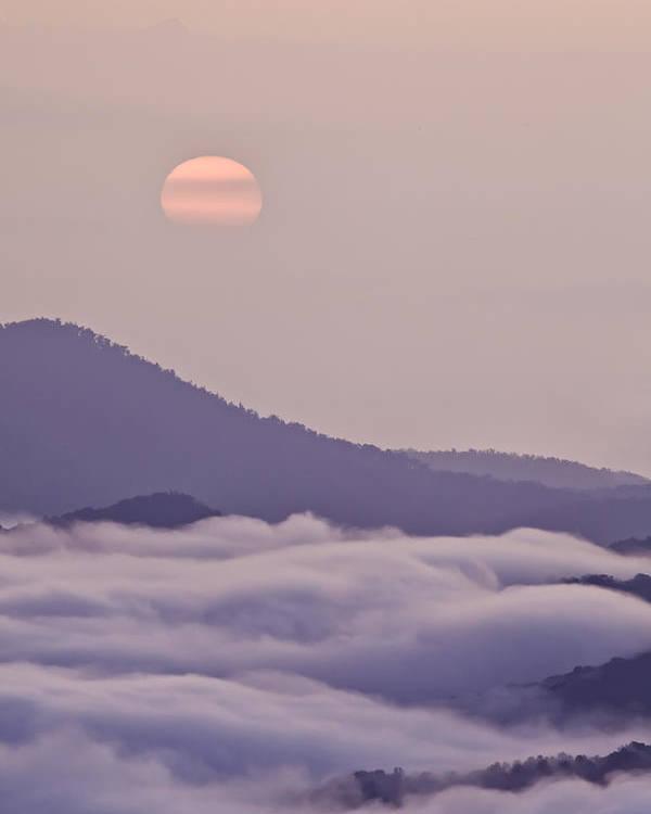 Blue Ridge Parkway Poster featuring the photograph Oriental Blue Ridge Sunrise by Rob Travis