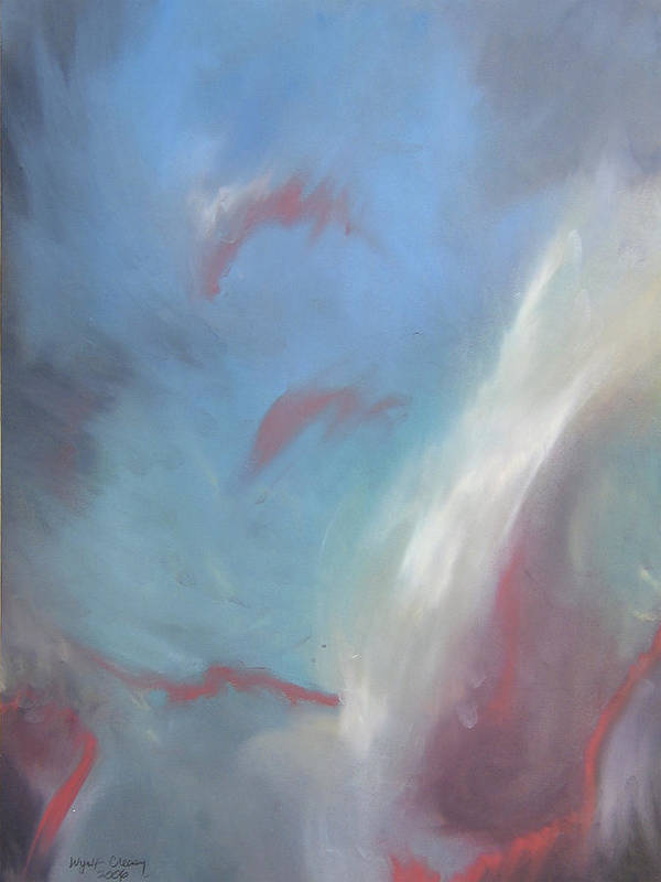 Abstract Poster featuring the painting Orion The Mighty Hunter by Wynn Creasy