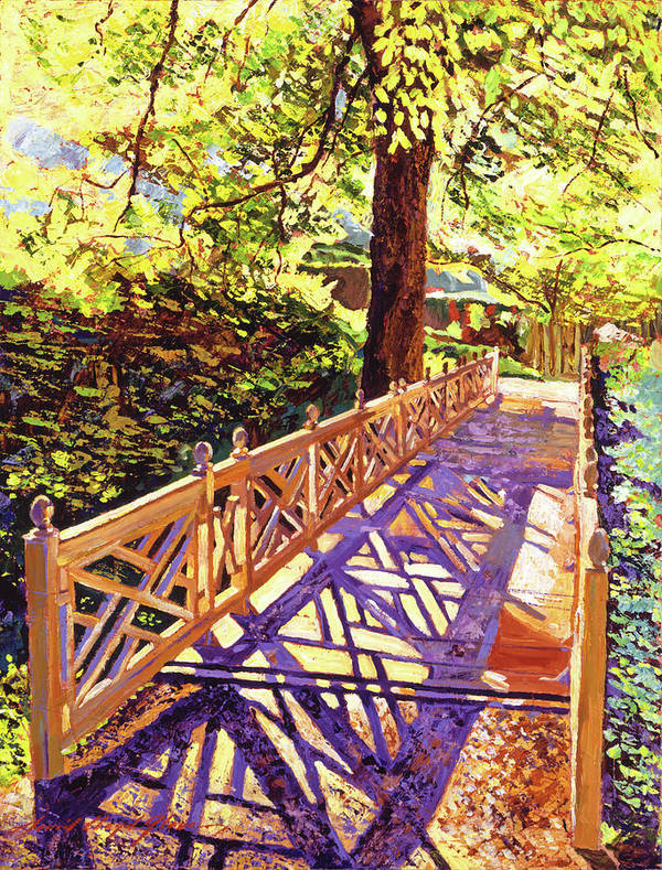 Palette Knife Poster featuring the painting Ornamental Bridge by David Lloyd Glover