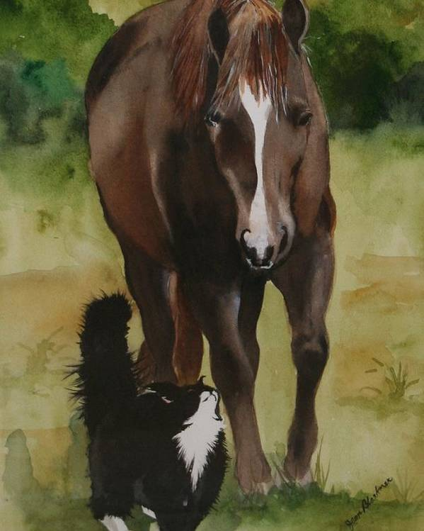 Horse Poster featuring the painting Oscar And Friend by Jean Blackmer