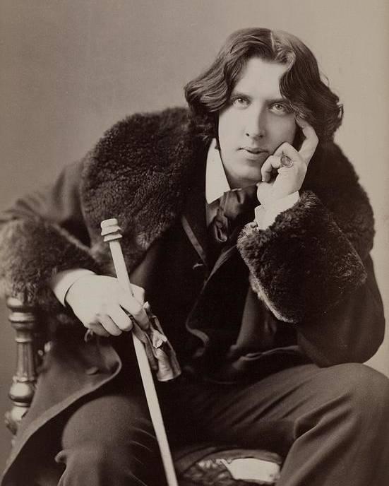 1880s Poster featuring the photograph Oscar Wilde, 1854-1900 Irish Writer by Everett
