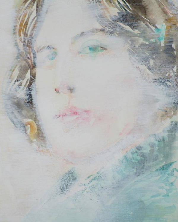 Oscar Poster featuring the painting Oscar Wilde - Watercolor Portrait.7 by Fabrizio Cassetta