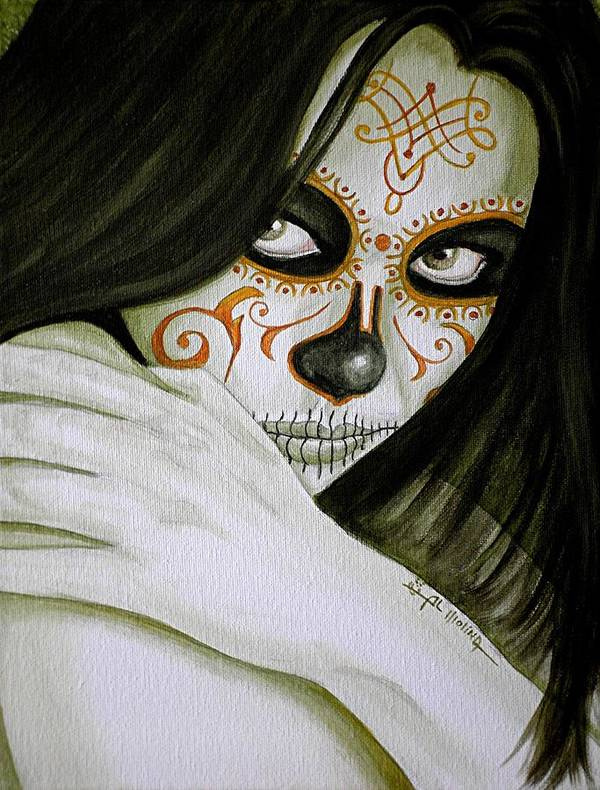 Day Of The Dead Poster featuring the painting Otro Dia Triste Sin Ti by Al Molina